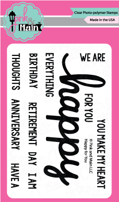 Pink & Main - HAPPY - Stamp set