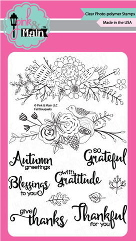 Pink & Main - FALL BOUQUETS - Clear Stamps