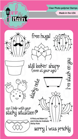 Pink & Main - STICKY NOTE - Clear Stamps