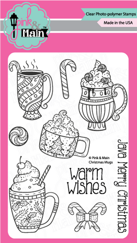 Pink & Main - CHRISTMAS MUGS - Clear Stamps