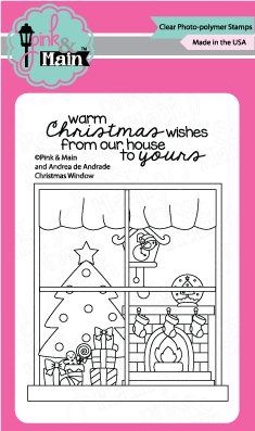 Pink & Main - CHRISTMAS WINDOW - Clear Stamps
