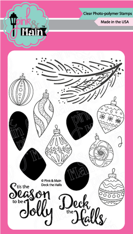 Pink & Main - DECK THE HALLS - Clear Stamps