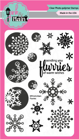 Pink & Main - FLURRIES - Clear Stamps - 30% OFF!