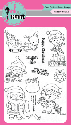 Pink & Main - NICE LIST - Clear Stamps