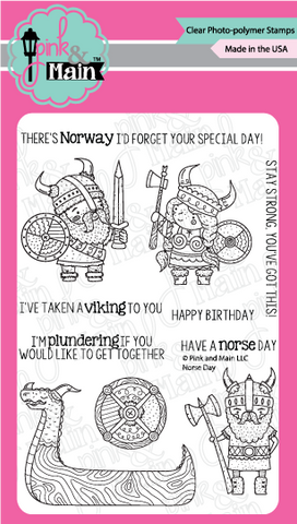 Pink & Main - NORSE DAY - Clear Stamp Set
