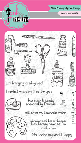 Pink & Main - CRAFTY - Stamps Set