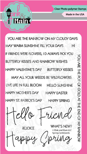 Pink & Main - SPRING SENTIMENTS - Stamps Set