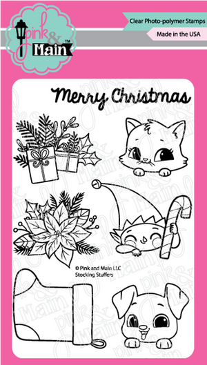 Pink & Main -  STOCKING STUFFERS  - Clear Stamp Set
