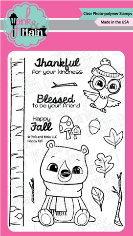Pink & Main - HAPPY FALL - Clear Stamp Set