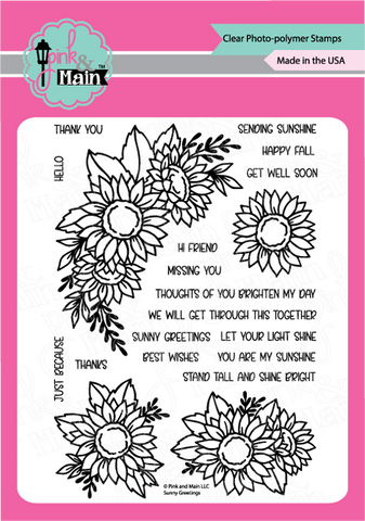 Pink & Main - SUNNY GREETINGS - Clear Stamp Set