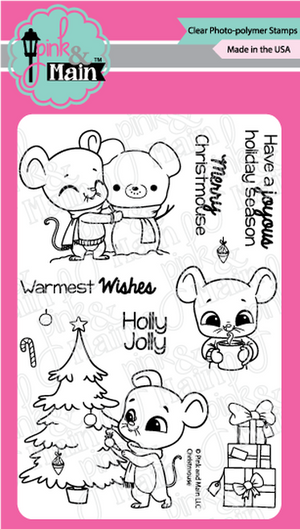 Pink & Main -  CHRISTMOUSE  - Clear Stamp Set
