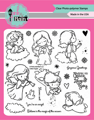 Pink & Main -  LITTLE ANGELS  - Clear Stamp Set