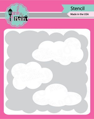 Pink & Main - CLOUDS - Stencil