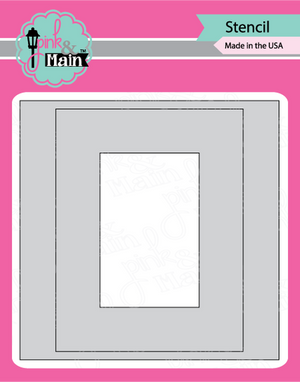 Pink & Main - Mask It RECTANGLE - Stencil