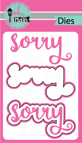 Pink & Main - SORRY - Die Set 2pc - Hallmark Scrapbook - 1