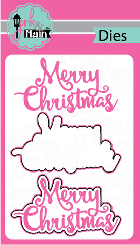 Pink & Main - MERRY CHRISTMAS - Die Set 2pc - Hallmark Scrapbook