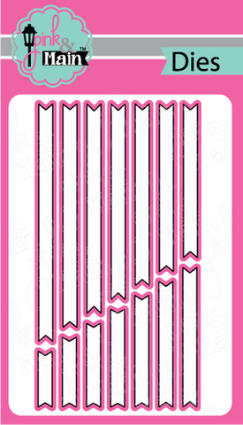 Pink & Main -  SENTIMENT STRIPS - Dies Set