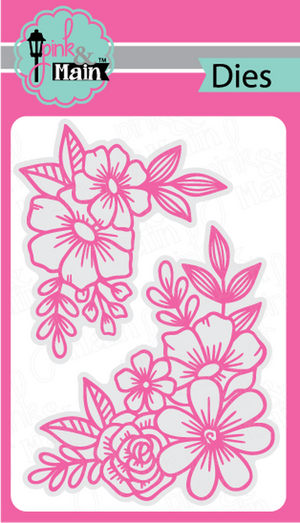 Pink & Main - FLORAL CORNERS - Dies Set