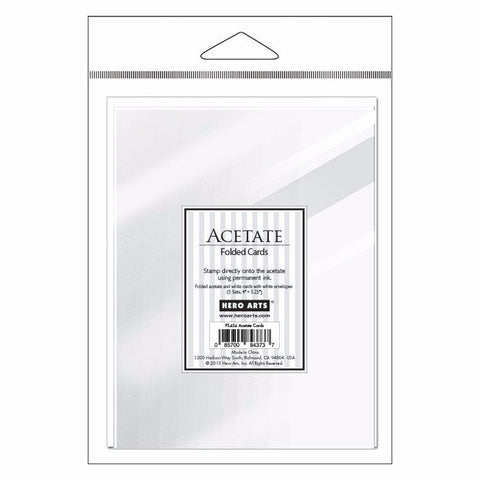 Hero Arts - Acetate Cards With Envelopes - 5PC