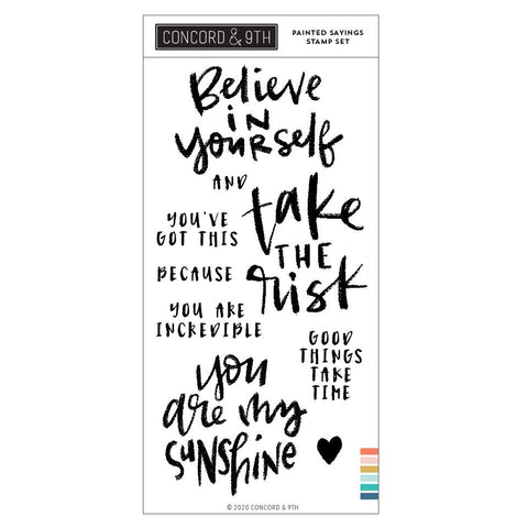 Concord & 9th - PAINTED SAYINGS - Stamps Set