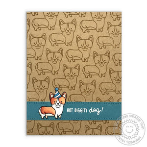 Sunny Studio - PARTY PUPS - Stamps Set