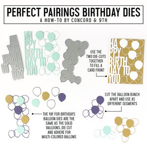 Concord & 9th - PERFECT PAIRINGS BIRTHDAY - Dies Set