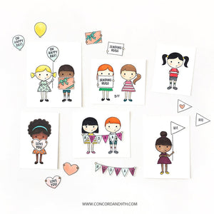 Concord & 9th - PETITE PALS - Stamps Set