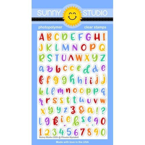 Sunny Studio - PHOEBE ALPHABET - Clear Stamps