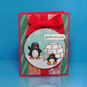 Lawn Fawn - Critters In the Snow - LAWN CUTS dies 11 pc - Hallmark Scrapbook - 2