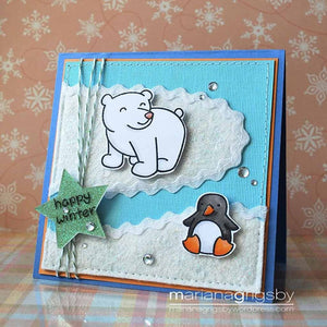 Lawn Fawn - Critters In the Snow - LAWN CUTS dies 11 pc - Hallmark Scrapbook - 10