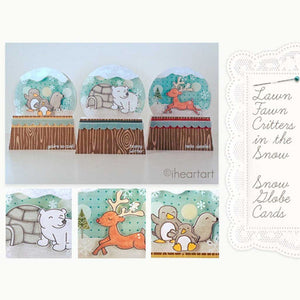 Lawn Fawn - Critters In the Snow - LAWN CUTS dies 11 pc - Hallmark Scrapbook - 9