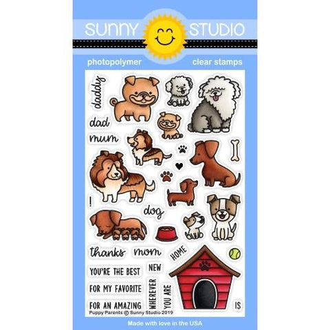 Sunny Studio - PUPPY PARENTS - Clear Stamps Set - 20% OFF!