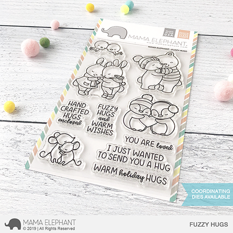 Mama Elephant - FUZZY HUGS - Clear Stamps