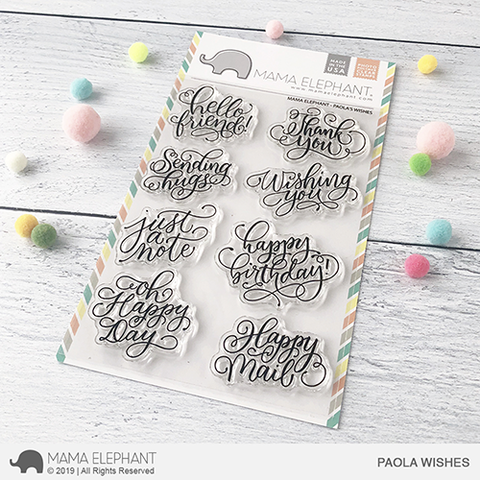 Mama Elephant - PAOLA'S WISHES - Clear Stamps