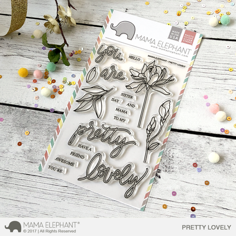 Mama Elephant - PRETTY LOVELY - Clear Stamps Set