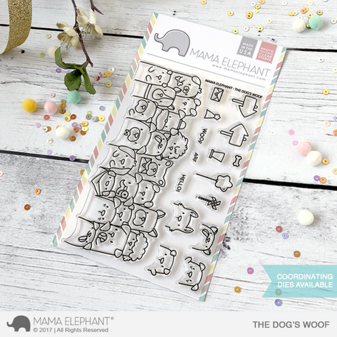 Mama Elephant - DOG'S WOOF - Clear Stamps Set