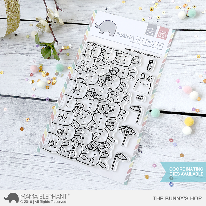 Mama Elephant - THE BUNNY'S HOP - Clear Stamps Set