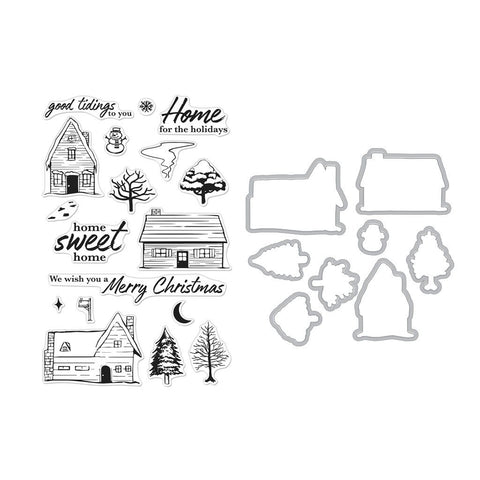 Hero Arts - HOME FOR THE HOLIDAYS - Stamp & Die Combo