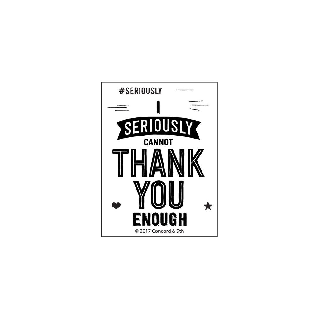 concord 9th seriously thank you stamps set hallmark scrapbook