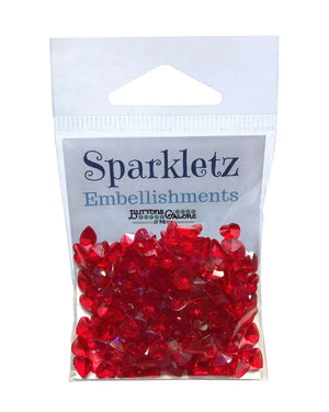 Buttons Galore and More - Sparkletz - RED HEARTS