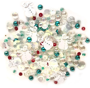 Buttons Galore and More - Sparkletz - FROSTY FRIENDS