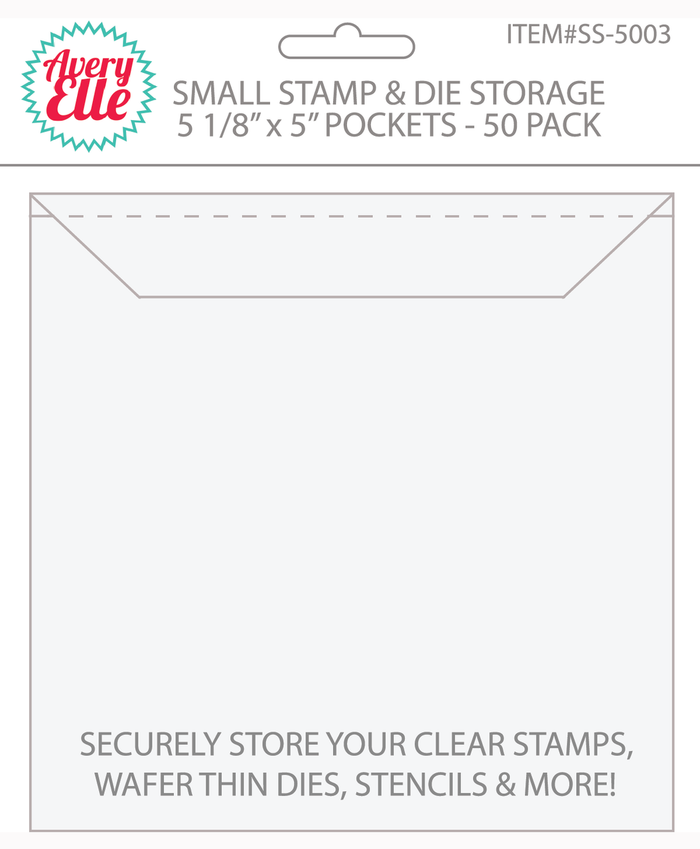 Avery Elle - STAMP & DIE Storage Pockets SMALL Set of 50