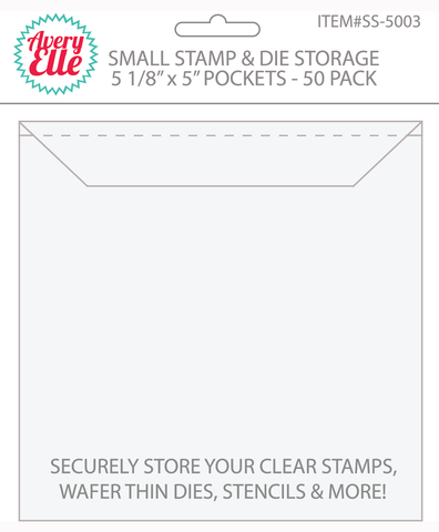 Avery Elle - STAMP & DIE Storage Pockets SMALL Set of 50 - Hallmark Scrapbook