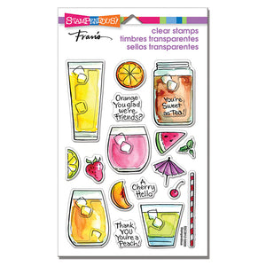 Stampendous - FRUITY DRINKS - Clear Stamps Set