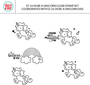 Avery Elle - BE A UNICORN Clear Stamp Set  - 14 pc - Hallmark Scrapbook - 2