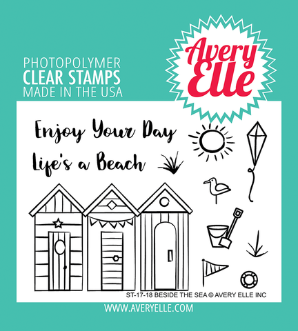 Avery Elle - BESIDE THE SEA - Clear Stamp Set - 50% OFF!