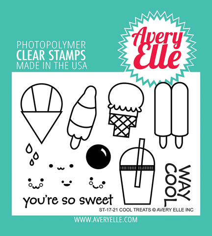 Avery Elle - COOL TREATS - Clear Stamps Set - 40% OFF!