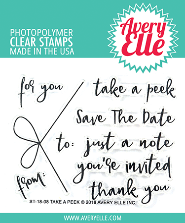 Avery Elle - TAKE A PEEK - Clear Stamps - 30% OFF!