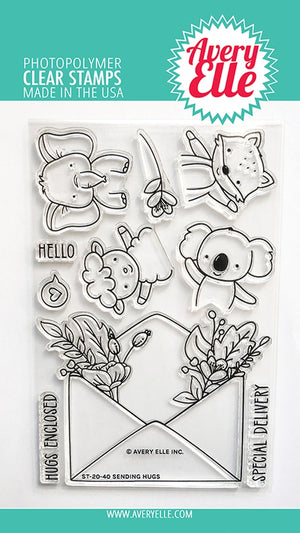 Avery Elle - SENDING HUGS - Stamps Set