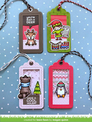 Lawn Fawn - SAY WHAT? Gift Tags - Dies set
